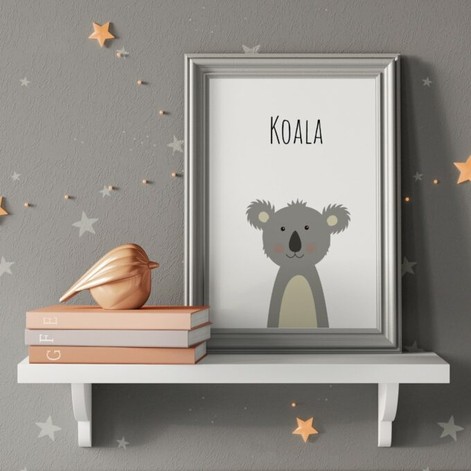 Babyzimmer Deko Wandposter Koala