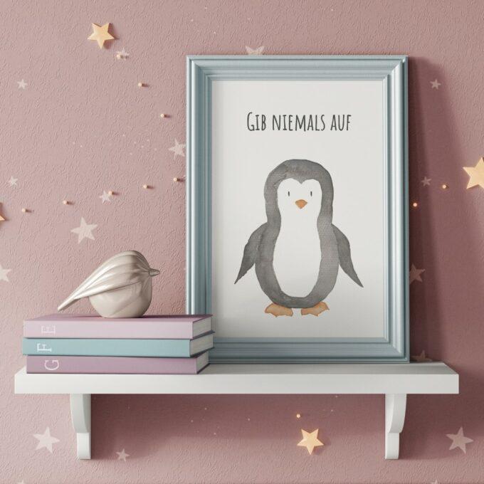 Babyzimmer Deko Wandposter Pinguin