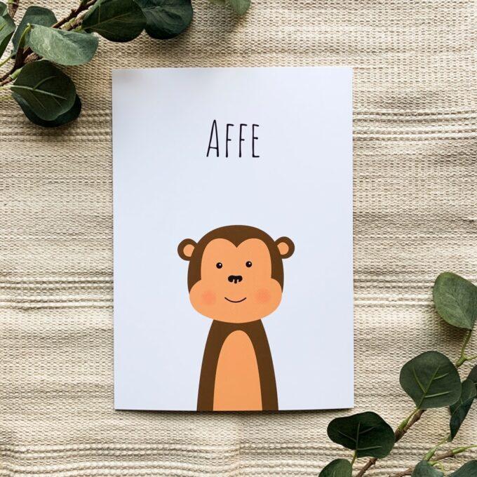 Babyzimmer Poster Affe