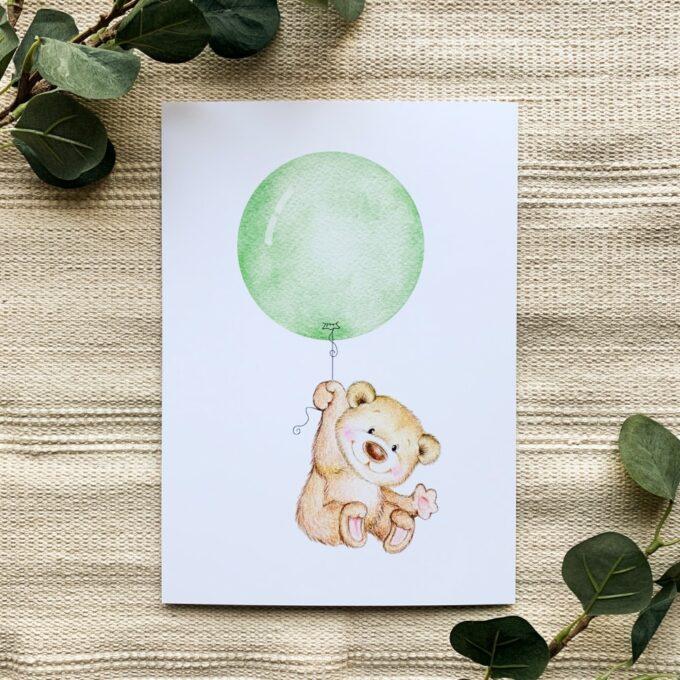 Kinderzimmer Poster Nilpferd
