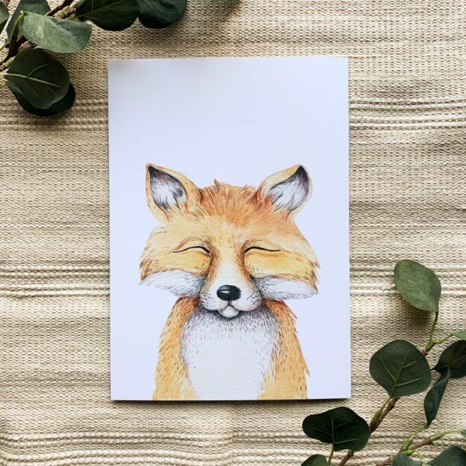 Babyzimmer Poster Fuchs