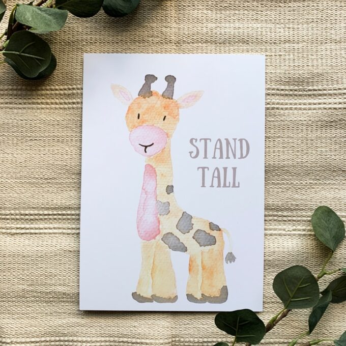 Babyzimmer Poster Giraffe