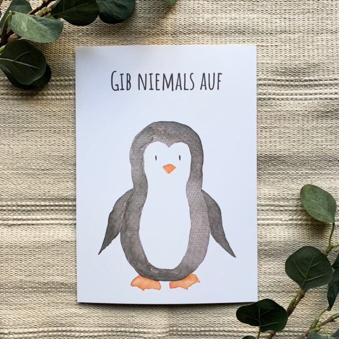 Babyzimmer Poster Pinguin