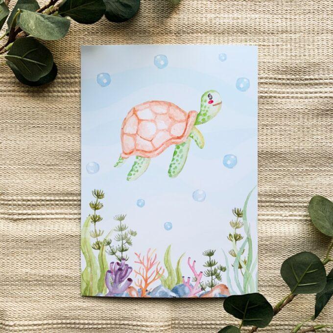 Babyzimmer Poster Schildkröte