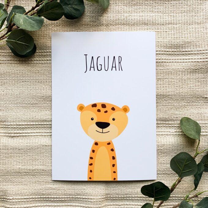 Kinderzimmer Deko Poster Jaguar