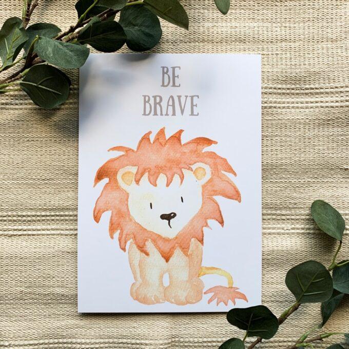 Kinderzimmer Deko Poster Löwe