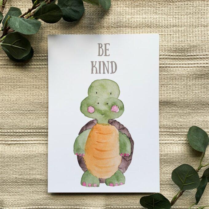 Kinderzimmer Deko Poster Schildkröte