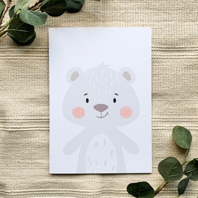 Kinderzimmer Poster Bär