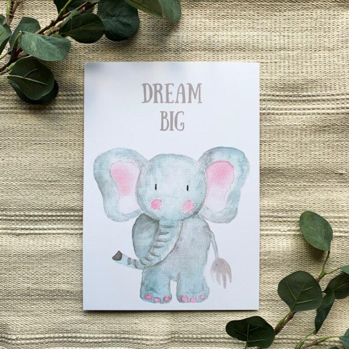 Kinderzimmer Poster Elefant