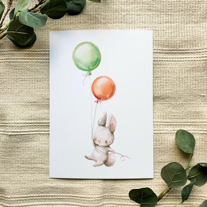 Kinderzimmer Poster Hase 1