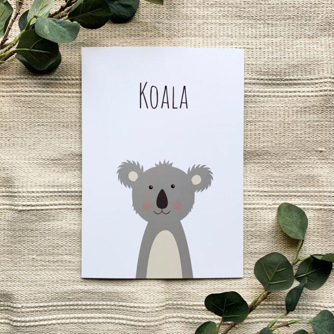 Kinderzimmer Poster Koala