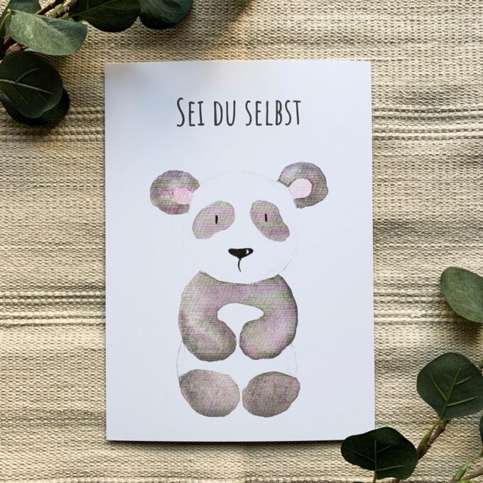 Kinderzimmer Poster Panda