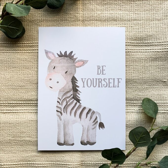 Kinderzimmer Poster Zebra