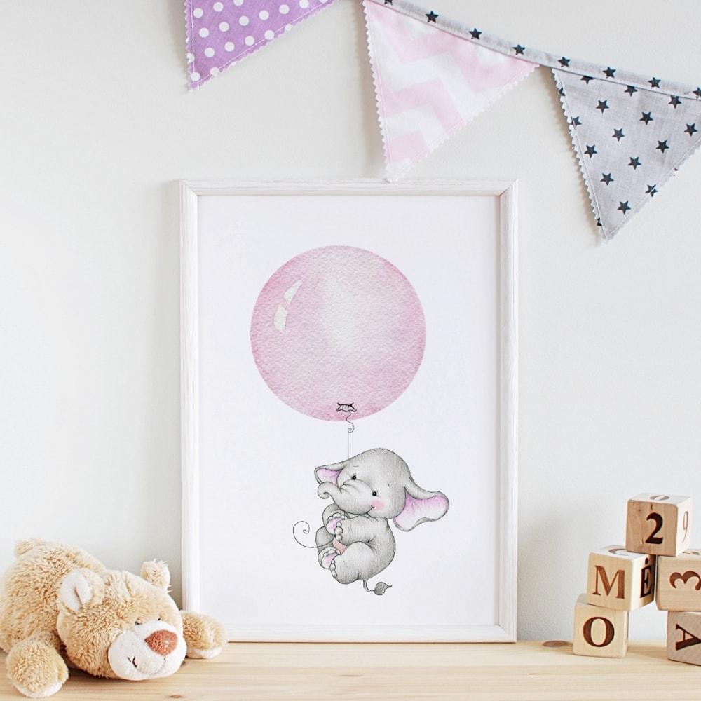 Bär Bild Bärenstark Spruch Babyzimmer Kunstdruck ...