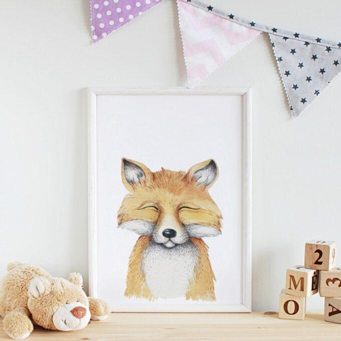 Poster Kinderzimmer Fuchs