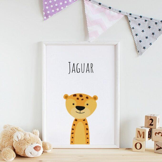 Poster Kindearzimmer Jaguar