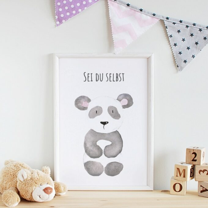 Poster Kinderzimmer Panda