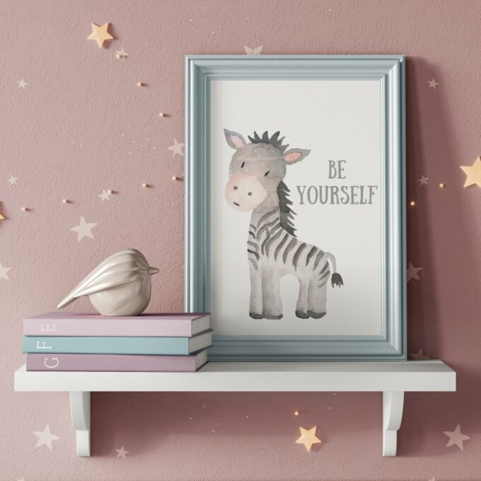 Poster Kinderzimmer Zebra