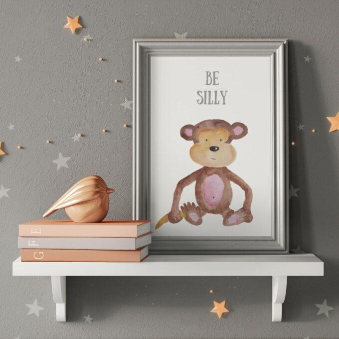 Wandbilder Kinderzimmer Affe