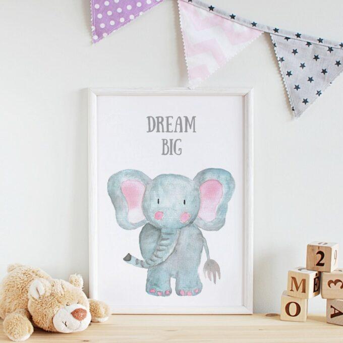 Wandbilder Kinderzimmer Elefant