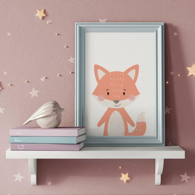 Wandbilder Kinderzimmer Fuchs