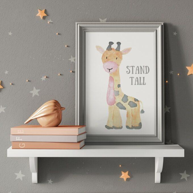 Wandbilder Kinderzimmer Giraffe