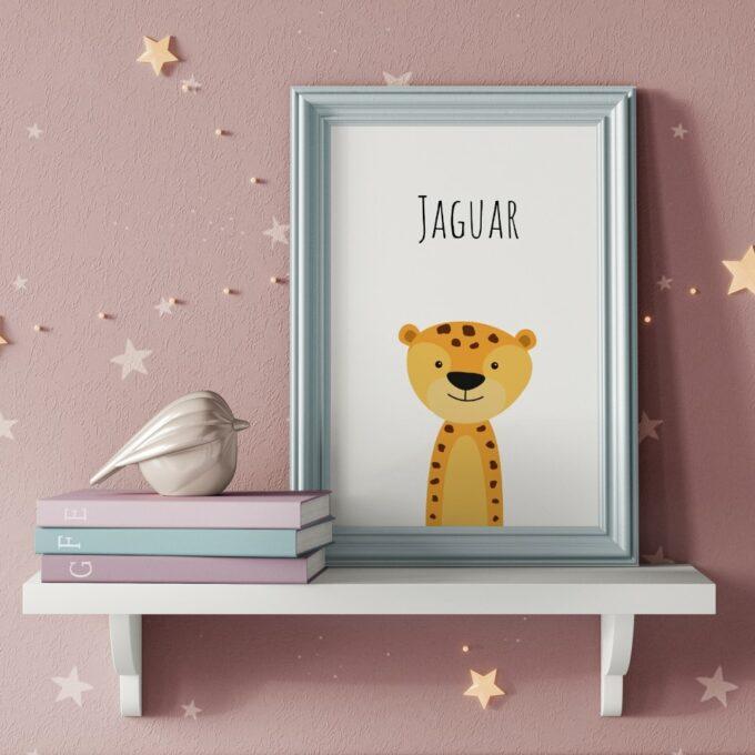 Wandbilder Kinderzimmer Jaguar