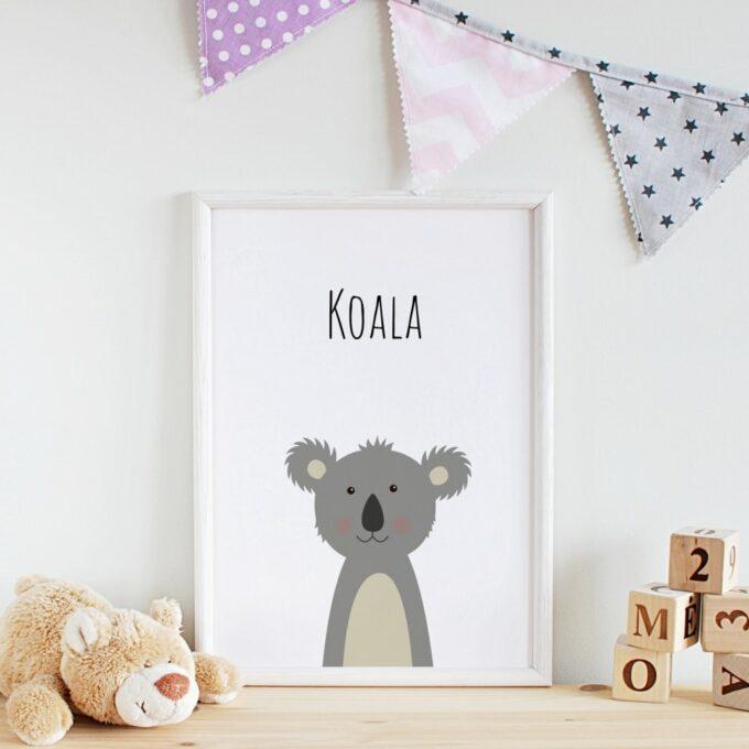 Wandbilder Kinderzimmer Koala