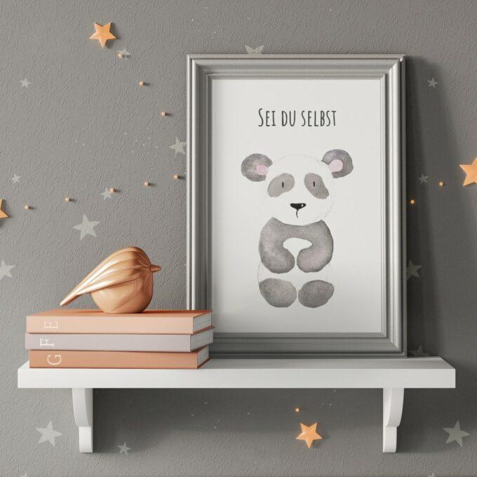 Wandbilder Kinderzimmer Panda
