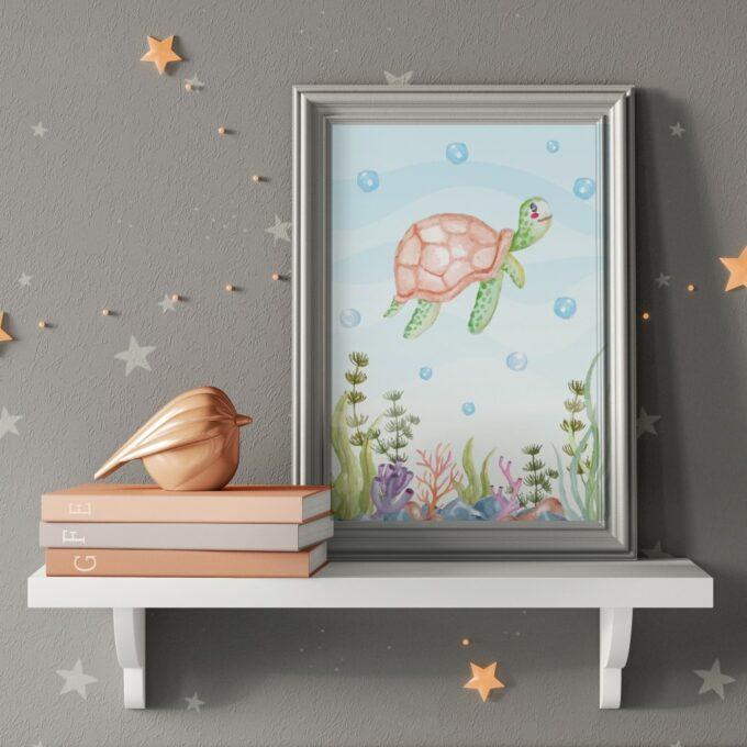 Wandbilder Kinderzimmer Schildkröte