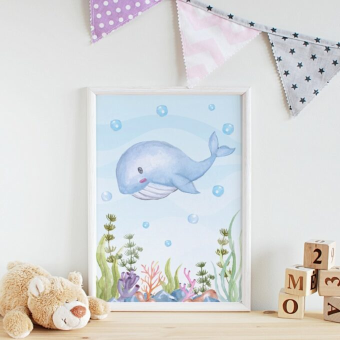 Wandbilder Kinderzimmer Wal
