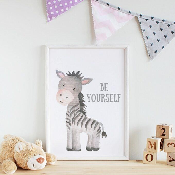 Wandbilder Kinderzimmer Zebra