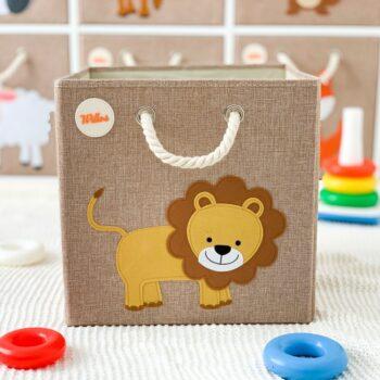 Aufbewahrungsbox-für-das-Kinderzimmer-Löwe