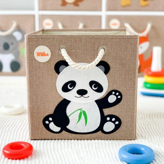Aufbewahrungsbox-für-das-Kinderzimmer-Panda