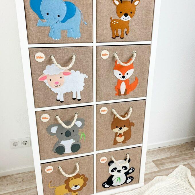 Kinder-Aufbewahrungsboxen für Kallax