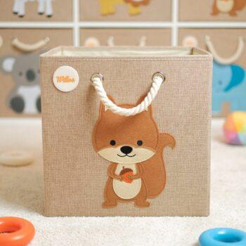 Aufbewahrungsbox-für-das-Kinderzimmer-Eichhoernchen