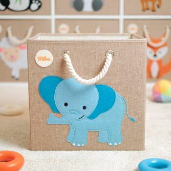 Aufbewahrungsbox-für-das-Kinderzimmer-Elefant