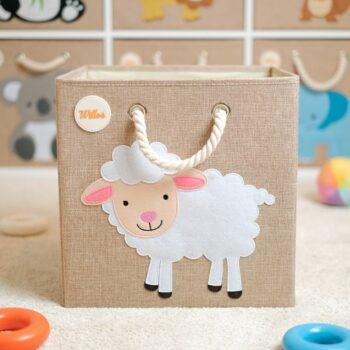 Aufbewahrungsbox-für-das-Kinderzimmer-Schaf